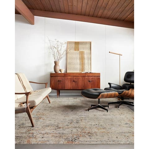 Alexander Home Alexis Modern Distressed Abstract Area Rug