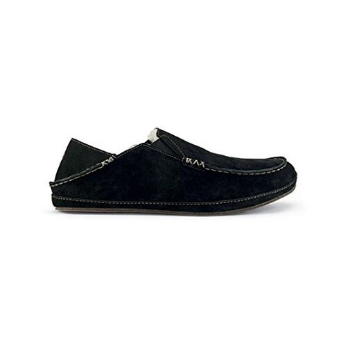 Olukai Mens MOLOA SLIPPER , Black/Black, 10