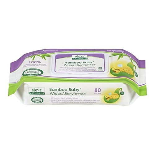 Aleva Naturals Bamboo Baby Wipes - Unscented - 80 ct