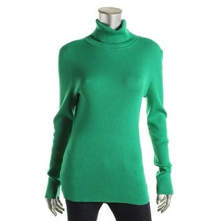 Lauren Ralph Lauren Womens Ribbed Knit Long Sleeves Pullover Sweater