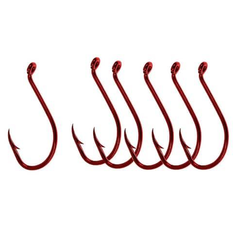 Gamakatsu Big River Bait Hooks (6 Ct) - Red - 3/0