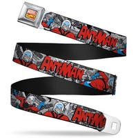 Marvel Comics Marvel Comics Logo Full Color Classic Ant Man 3 Poses Comic Seatbelt Belt