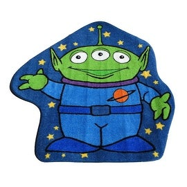 "Disney Alien Children Rug Blue Green Base Color Kids Rug Children's Machine-washable Non-slip Area Rug (39""X39"" Inches) New"