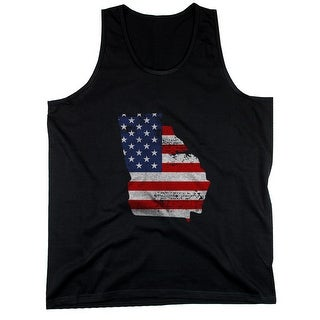GA State USA Flag Men's Tank Top Georgia American Flag Tanks