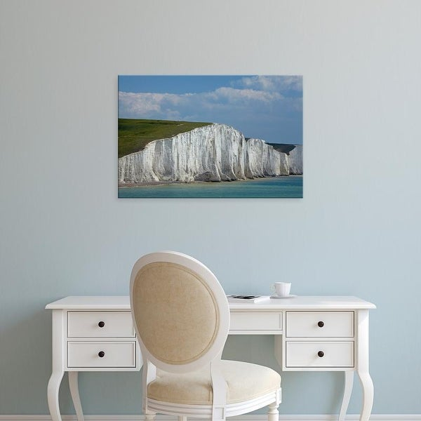 Easy Art Prints David Wall's 'Seven Sisters Chalk Cliffs' Premium Canvas Art