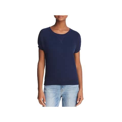 Joie Womens Christal T-Shirt Knit Short Sleeves - XXS