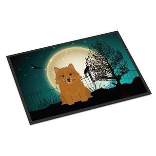 Carolines Treasures BB2210JMAT Halloween Scary Norwich Terrier Indoor or Outdoor Mat 24 x 0.25 x 36 in.