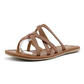 Mia Danielle Open Toe Leather Thong Sandal
