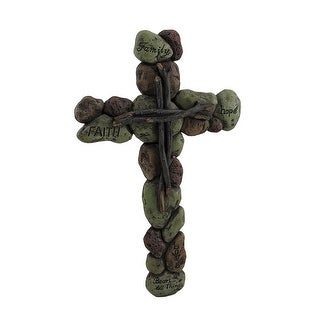 Stones of Faith Decorative Cross Wall Hanging
