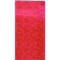 Stickers Foil Stars 3/4 Inch Red