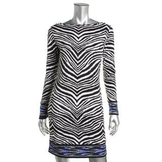 MICHAEL Michael Kors Womens Animal Print Long Sleeves Wear to Work Dress