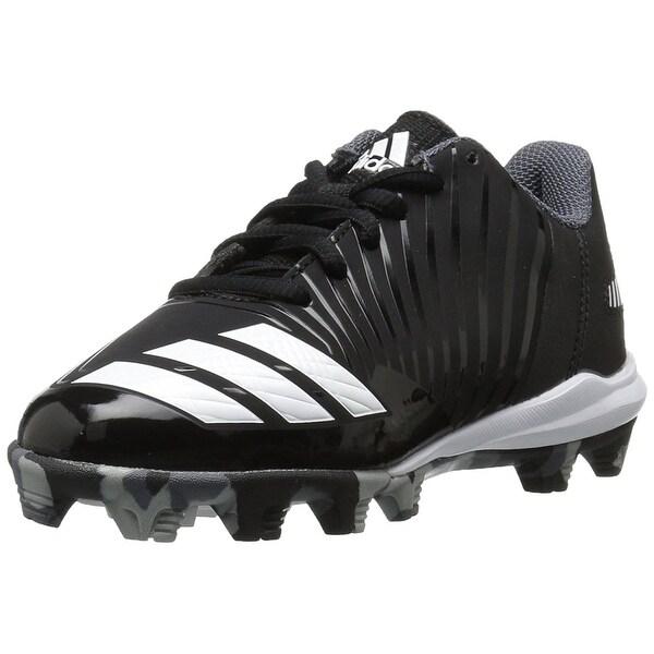 15d8022ac9 Shop adidas Kids' Icon Md Baseball Shoe, Black/White/Onix, Size 10K ...