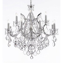 Swarovski Crystal Trimmed Theresa Crystal Chandelier Lighting H30 x W28