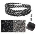 Refill - Beaded Kumihimo Wrap Bracelet Kit-Blk/Slv - Exclusive Beadaholique Jewelry Kit - Thumbnail 0