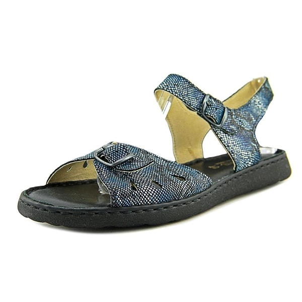 La Plume Trace Women Navy Pyth Sandals