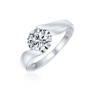 Link to 3CT Solitaire AAA CZ Bypass Engagement Ring Band 925 Sterling Silver Similar Items in Rings