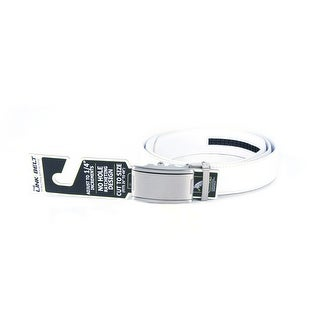 Tour Gear Custom Fit Golf Belt White with Satin Silver Buckle