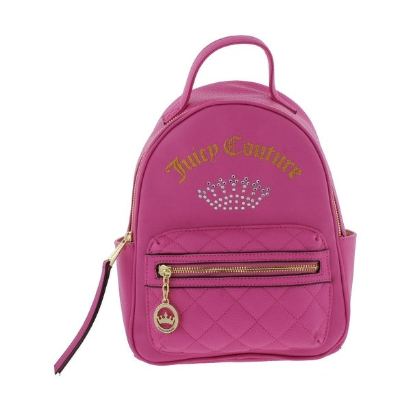 Shop Juicy Couture Womens Shining Crown Backpack Faux Leather Logo ... c40bef78e0