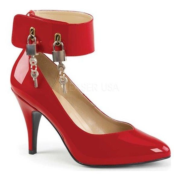 4105867733 Shop Pleaser Pink Label Women's Dream 432 Ankle Strap Pump Red Patent -  Free Shipping Today - Overstock - 17734132