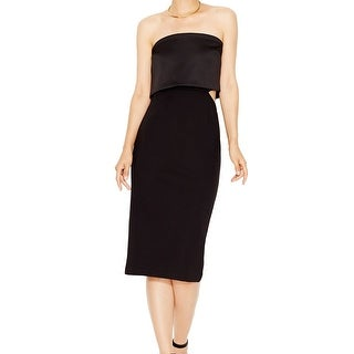 Rachel Roy NEW Black Women's Size 10 Strapless Popover Sheath Dress