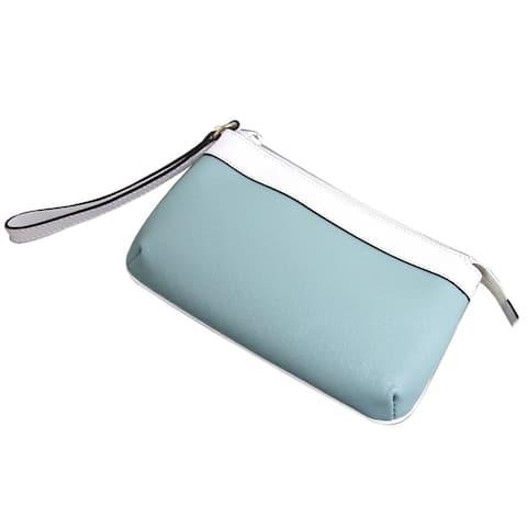 Gucci Women's SMLG Blue PVC Large GG Monogram Wristlet Clutch Bag 347112