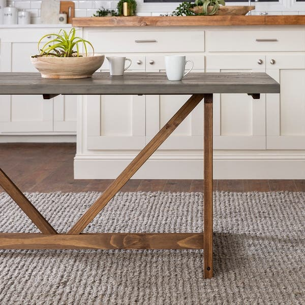 The Gray Barn 72 Inch Solid Wood Trestle Dining Table On Sale Overstock 31288561