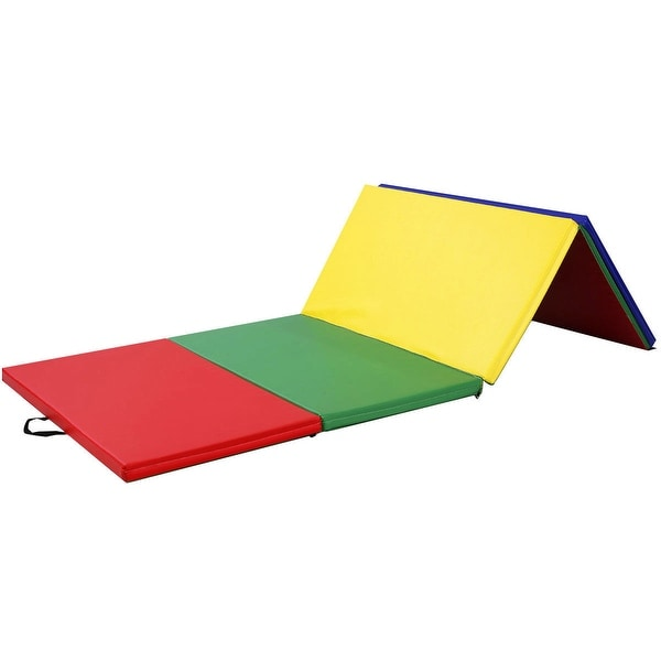 "4/'x10/'x2/"" Gymnastics Mat Folding PU Panel Gym Fitness Exercise Multi-Colors 2018"