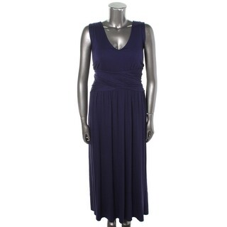 Three Dots Womens Plus V-Neck Criss-Cross Front Casual Dress - 3X