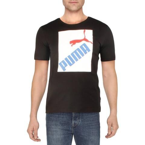 Puma Mens Graphic T-Shirt Cotton Logo - Puma Black - S