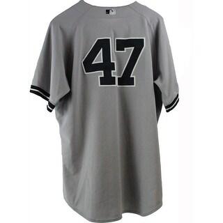 Ivan Nova Jersey NY Yankees 2013 Season Game Used 47 Grey Jersey 0000003165 Size 50 EK383973
