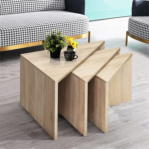 Furniture R Chattanooga Triangle 3 Piece Nesting Tables