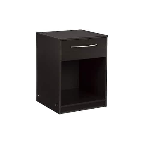 Flannia Black/Brown One Drawer Nightstand