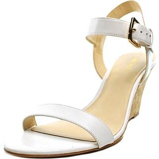 Nine West Kiani Open Toe Leather Wedge Sandal
