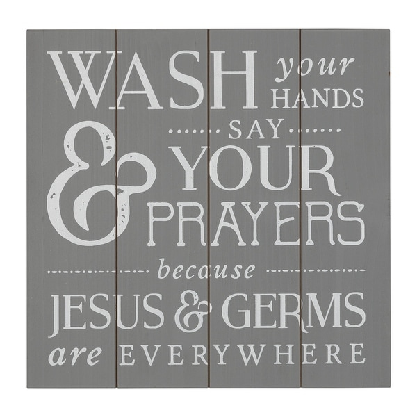 Stratton Home Decor Jesus and Germs Bathroom Wall Art. Opens flyout.
