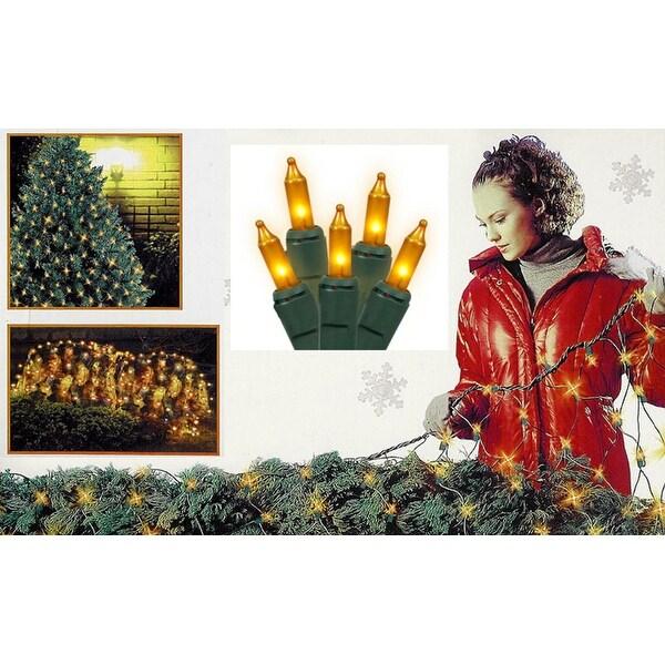 4 x 6 opaque gold mini net style christmas lights