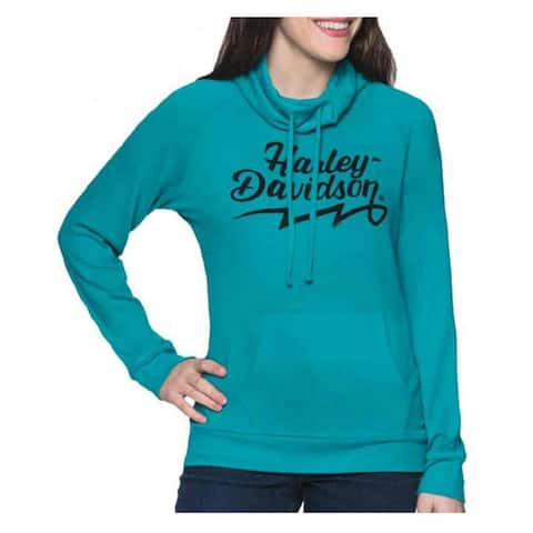Harley-Davidson Women's Dynamic Long Sleeve Funnel Neck Shirt - Turquoise