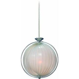 "Volume Lighting V1943 3 Light Bowl Shaped 25.5"" Height Pendant with Alabaster Gl"