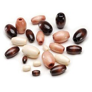 Earth Tones - Wood Beads Assorted 75/Pkg