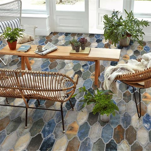 SomerTile Dorne Provenzal Mix 6.38x9.88-inch Porcelain Floor and Wall Tile (20 tiles/9.43 sqft.) - CASE
