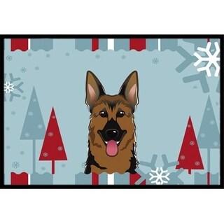 Carolines Treasures BB1707MAT Winter Holiday German Shepherd Indoor & Outdoor Mat 18 x 27 in.