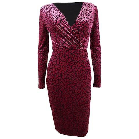 Rachel Rachel Roy Women's Fitted Leopard Print Dress