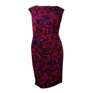 American Living Women's Side Ruched Floral Dress