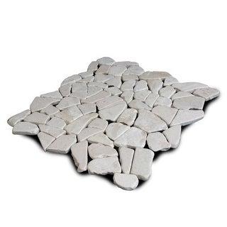 Miseno MT-R3RWH Seamless Mosaic Natural Stone Tile (9.68 SF / Carton)