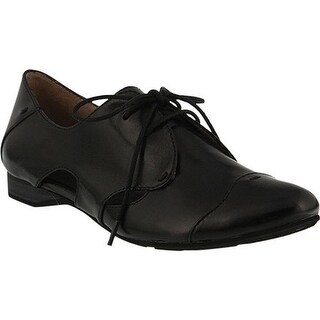 Spring Step Women's Cinzano Lace Up Loafer Black Leather