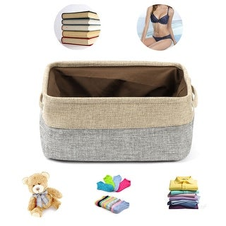 Foldable Canvas Toy Bins for Laundry Clothes Storage Home Organizer