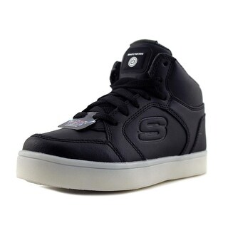 Skechers S Lights Energy Lights-Elate Youth Round Toe Synthetic Black Sneakers