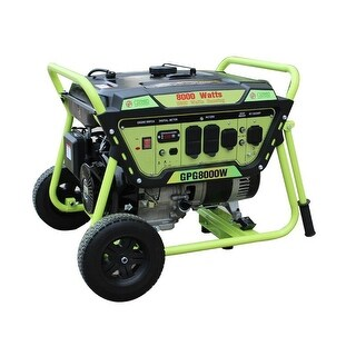 Green Power 8000-Watt Gas Powered Portable Generator, LCT Engine - N/A