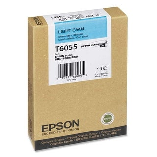 Epson T605500 UltraChrome K3 110ml Light Cyan Cartridge (T605500) - pigment light cyan