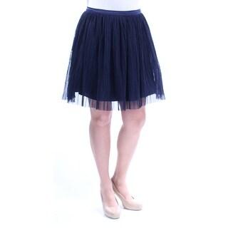 TRIXXI $67 Womens New 1037 Navy Accordion Pleat Skirt 13 Juniors B+B