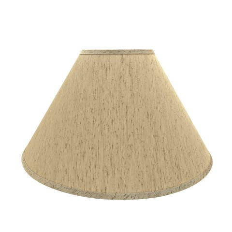 "Aspen Creative Hardback Empire Shaped Spider Construction Lamp Shade in Yellowish Brown (7"" x 20"" x 12 1/2"")"